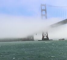 Foggy Golden Gate Bridge by MBoothny
