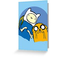 Finn and Jake - Adventure time Greeting Card