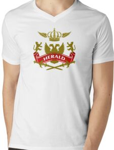 The Herald Coat-of-Arms Mens V-Neck T-Shirt