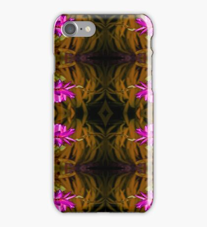 Flower of red on Gold iPhone Case/Skin