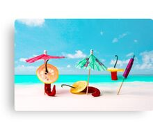 Chili Peppers On The Beach Canvas Print