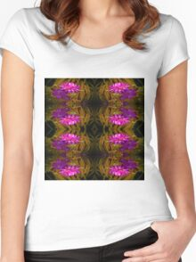 Flower of red on Gold Women's Fitted Scoop T-Shirt