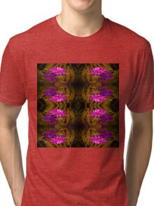 Flower of red on Gold Tri-blend T-Shirt