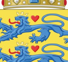 Denmark Coat Of Arms Sticker
