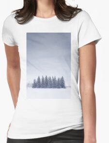 Winterscape Womens Fitted T-Shirt