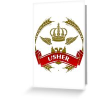 The Usher Coat-of-Arms Greeting Card