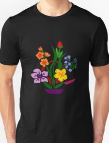 Cool Artistic Colorful Floral Abstract Art Unisex T-Shirt