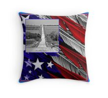 Country Freedom and Back Roads Throw Pillow
