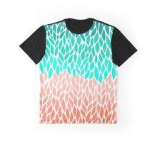 Coral Mint Ombre Graphic T-Shirt