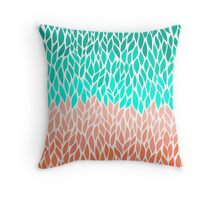 Coral Mint Ombre Throw Pillow