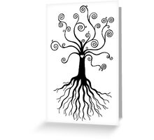 Tree of Life - black and white Greeting Card