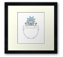 Tiny Rick! Framed Print