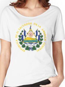 El Salvador Coat Of Arms Women's Relaxed Fit T-Shirt