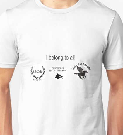 3 logo, rick riordan Unisex T-Shirt