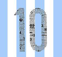 Lionel Messi Typographic Poster Argentina by Ingleburt