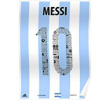 Lionel Messi Typographic Poster Argentina Poster