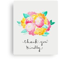 Pink and Yellow Roses - Thank You Canvas Print