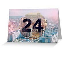 24 hours in 24 regions Greeting Card