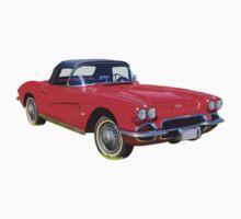 1962 Chevrolet Corvette Convertible Antique Car One Piece - Long Sleeve