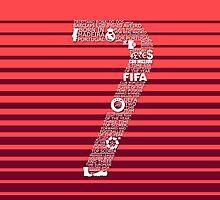 Cristiano Ronaldo Typographic Poster Portugal by Ingleburt
