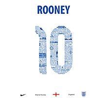 Wayne Rooney Typographic Poster England  Photographic Print