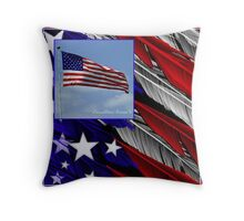 July Beginnings,Freedom Flys Throw Pillow