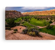 Moab Desert Canyon Golf Course At Sunrise Canvas Print