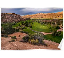 Moab Desert Canyon Golf Course At Sunrise Poster