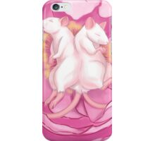 Conjoined Rats in Peony iPhone Case/Skin