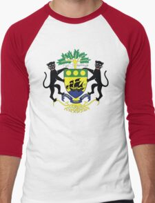 Gabon Coat Of Arms Men's Baseball ¾ T-Shirt
