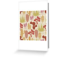 Cactus Garden Brown and Gold Greeting Card