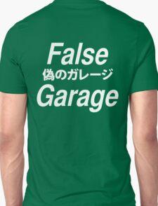 """FALSE GARAGE """"never lucky"""" White font Unisex T-Shirt"""