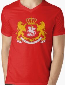 Georgia Coat Of Arms Mens V-Neck T-Shirt