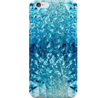 Blue water in crystals iPhone Case/Skin