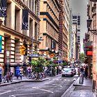 Street of Melbourne by Leonie Morris