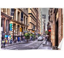 Street of Melbourne Poster