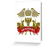 The Sentinel Coat-of-Arms Greeting Card