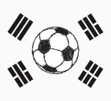 The Flag of South Korea | Football Sketch Kids Clothes