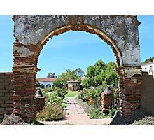 Old Mission San Luis Rey Archway Photographic Print
