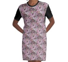 EXOTIC TROPICAL 0RCHID Graphic T-Shirt Dress