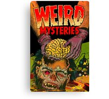 Weird Mysteries Comic cover Canvas Print