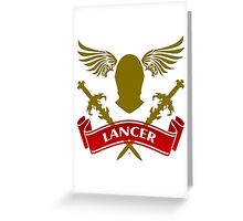 The Lancer Coat-of-Arms  Greeting Card