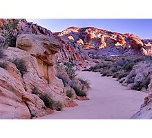 Sunrise Over Valley Of Fire Wash - Nevada Photographic Print