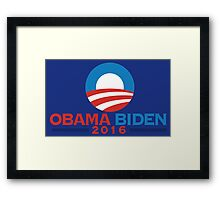 Obama-Biden 2016 Presidential Re-Election Campaign Gear Framed Print