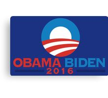 Obama-Biden 2016 Presidential Re-Election Campaign Gear Canvas Print