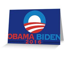 Obama-Biden 2016 Presidential Re-Election Campaign Gear Greeting Card