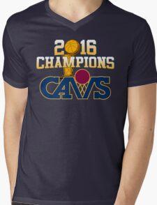 Cavs 2016 Champions Retro Logo Mens V-Neck T-Shirt