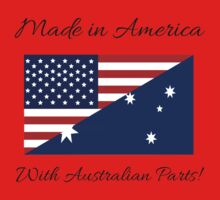 Made in America with Australian Parts. One Piece - Short Sleeve