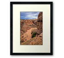 Entering Horseshoe Canyon - Utah Framed Print