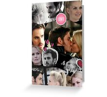 Once Upon A Time Captain Swan Collage Greeting Card